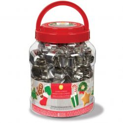 Wilton Cookie Cutter Set Christmas Tub 40/pc
