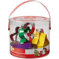 Wilton Cookie Cutter Tub Christmas Set/12