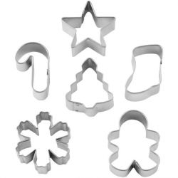 Wilton Cookie Cutter Set Christmas 6pc