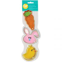 Wilton Cookie Cutter Set Whimsical Easter 3pc