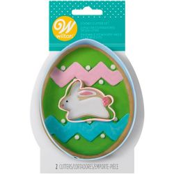 Wilton Cookie Cutter Set Egg W Mini Bunny 2 Pc