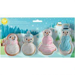 Wilton Cookie Cutter Set Snowman set/4