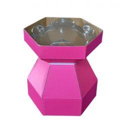 Cupcake Bouquet Box Fuchsia Pink
