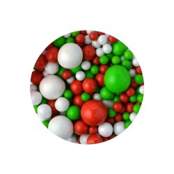Sprinkletti Red , Green & White Balls