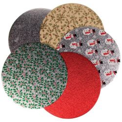 Culpitt Cake Board Christmas Red 25cm