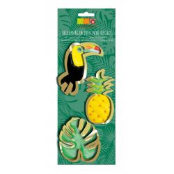 ScrapCooking Cookie Cutter Tropical Set/3