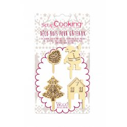 Scrap Cooking Cake Toppers Christmas