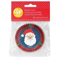 Wilton Baking Cups Christmas Santa Claus pk/75