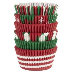 Wilton Baking Cups Tube Holiday Red/Green/White
