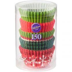 Wilton Baking Cups Tube Mini Holiday Set/150