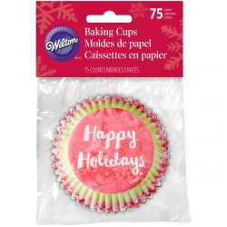 Wilton Baking Cups Normal Happy Holidays