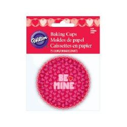 Wilton Baking Cups Normal Be Mine pk/75