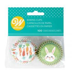 Wilton Baking Cups Mini Easter Bunny pk/100