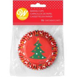 Wilton Baking Cups Christmas Tree & Ornaments pk/75