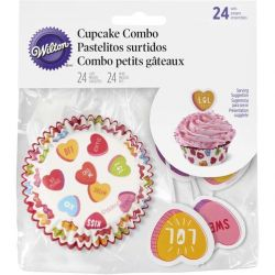 Wilton Baking Cups  Combo Pack Valentine pk/24