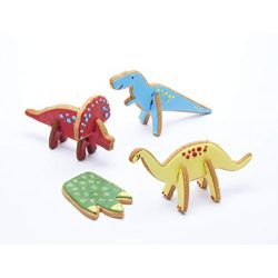 KitchenCraft 3D Standing Dinosaur Cookie Cutter Set