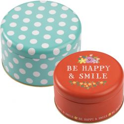 Birkmann Cake Tin Set Be Happy & Smile