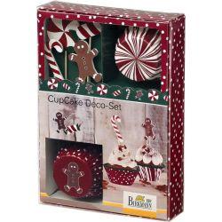 Birkmann Cupcake Deco Set  Candy Christmas