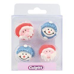 Culpitt Suiker Decoraties Santa & Snowman