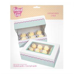 BWL Cupcake Box Aqua 6/12