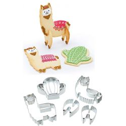 KitchenCraft 3D Standing Lama Cookie Cutter Set