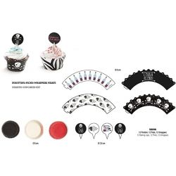 Decora Cupcake Kit Pirates 36/pc