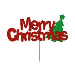 Kelsi-Marsh Krafts Cake Topper Merry Christmas