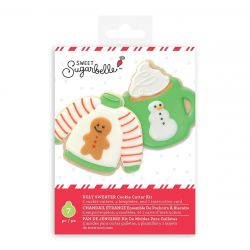 Sweet Sugarbelle Ugly Sweater Cookie Cutter Kit set/7