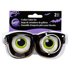 Wilton Cookie Cutter Eyeglasses And Eyeball Set/2