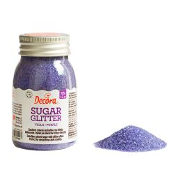 Decora Glitter Sugar Purple 100gr