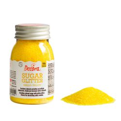 Decora Glitter Sugar Yellow 100gr