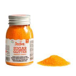 Decora Glitter Sugar Orange 100gr