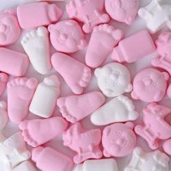 Baby Schuimpjes Mix Roze-Wit 1kg
