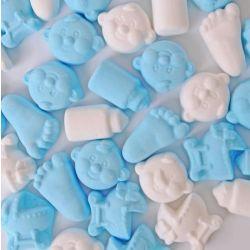 Baby Schuimpjes Mix Blauw-Wit 1kg