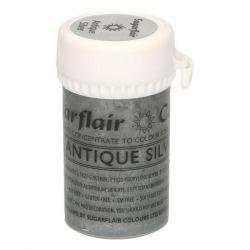 Sugarflair Paste Colour Satin Antique Silver
