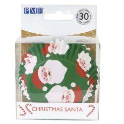 PME Foil Baking Cups Christmas Santa Set/30