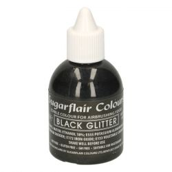 Sugarflair Airbrush Colouring Black Glitter - 60ml