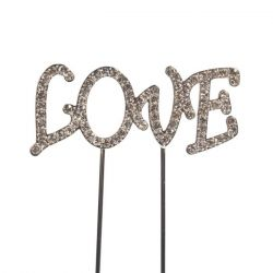 Cakestar Cake Topper Diamante Love