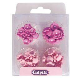 Culpitt Suikerdecoratie Mini Bloemen Roze Pk/100