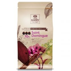 Cacao Barry Chocolade Gallets - Saint Domingo Puur 70% 1kg