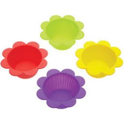 Kitchencraft Flower Silicone Cake Moulds Set/4