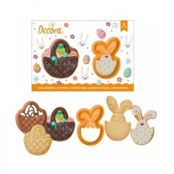 Decora Cookie Cutters Rabbit And Basket 2/pcs