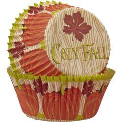 Wilton Baking Cups Cozy Fall 75/pc