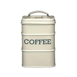 Living Nostalgia Coffee Tin Steel Cream