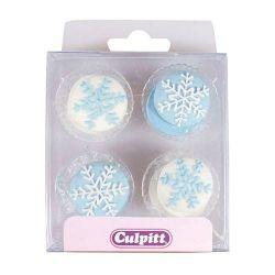 Culpitt Suiker Decoratie Sneeuwvlokken pk/12
