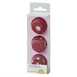 Birkmann Mini Papieren Muffin Vormpjes Roze 3cm Set/72