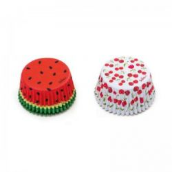 Decora Baking Cups Summer Fruits 36/pc
