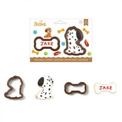 Decora Plastic Cookie Cutter Set Dog & Bone