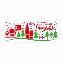 Decora Stencil Christmas Landscape