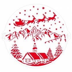 Decora Stencil Christmas Landscape Round